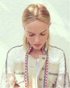 Kate Bosworth Centre Parting Braid